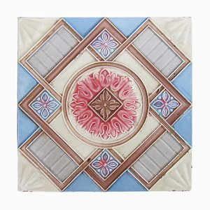 Relief Glazed Tile from Dyle, 1930s