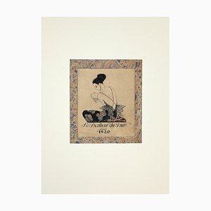 George Barbier, Le Bonheur du Jour, Original Stencil, 1929