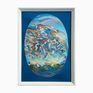 Peinture à l'Huile Originale Franco Mulas, Pala N ° 4, 2021