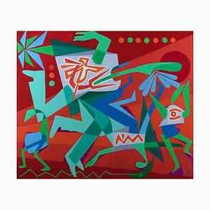 Leo Guida, in Geschwindigkeit, Original Acryl, 1992