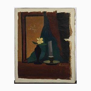 Leo Guida, Still Life, Original Oil Paint on Canvas, 1960s
