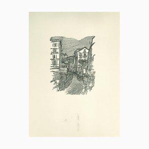 Ernesto Romagnoli, Figures, Original Woodcut, 1963