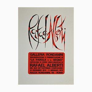 Rafael Alberti, the Word and the Sign, Original Screen Print, 1973