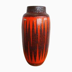 Keramik Vase mit Fat Lava Glasur von Scheurich, 1960er
