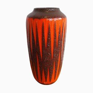 Ceramic Vase with Fat Lava Glaze from Scheurich, 1960s