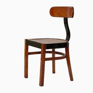 Constructivist Bentwood Back-Sprung Mod. No. 401 Chair by Jozsef Heisler, Hungary, 1930s