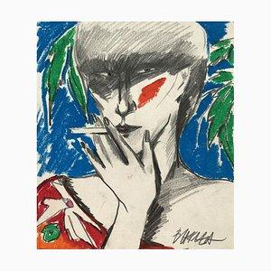 Hanna Bakula, autorretrato, años 80