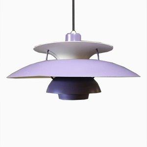 Lámpara colgante PH5 morada de Poul Henningsen para Louis Poulsen, años 70