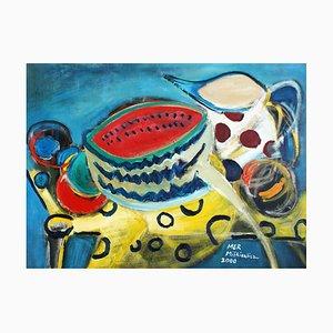 Marzena Miskiewicz, Stillleben mit Wassermelone, 2000