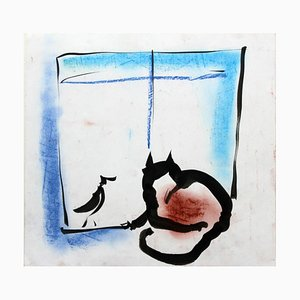Anna Zawadka, A Cat and a Bird (Pets), 1994