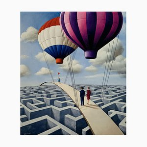 Rafal Olbinski, Luftballons, 2020