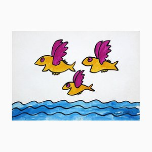 Bohdan Butenko, Disegno, Flying Fish, 1980
