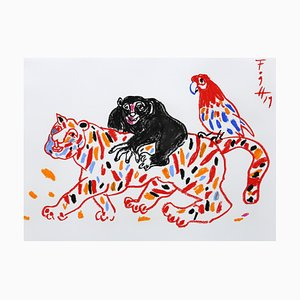 Andrzej Fogtt, Monkey on the Tiger and a Parrot, 2019