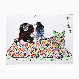 Andrzej Fogtt, Singe, Tigre et Corbeau, 2019