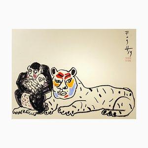 Andrzej Fogtt, mono con un bebé - Mono y un tigre, 2019