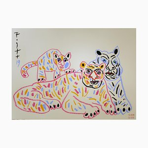 Andrzej Fogtt, Tigers with a Baby - Tiger, 2019