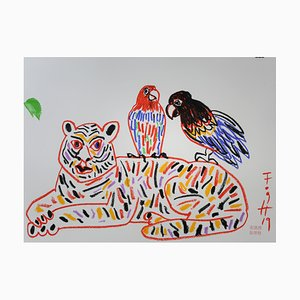Andrzej Fogtt, Papageien auf dem Tiger, 2019