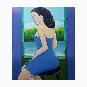 Portrait en Robe Bleue Lidia Wiencek, 2002