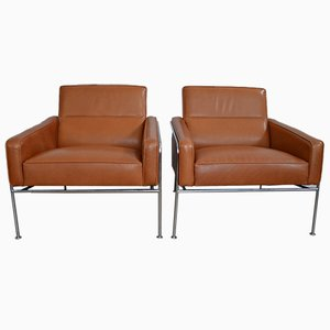 Model 3300 Lounge Chairs by Arne Jacobsen for Fritz Hansen, 1956, Set of 2