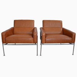 Modell 3300 Lounge Sessel von Arne Jacobsen für Fritz Hansen, 1956, 2er Set