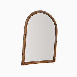 Italian Bamboo Mirror, 1970s