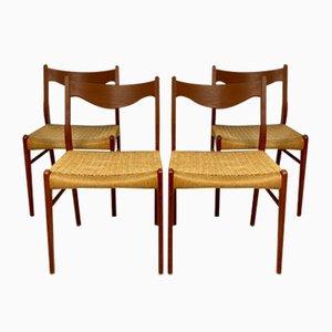 Dänische Teak Esszimmerstühle von Arne Wahl Iversen für Glyngøre Stolefabrik, 1960er, 4er Set
