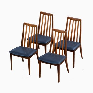 Scandinavian Perforated Black Chairs from G-Plan, Set of 4