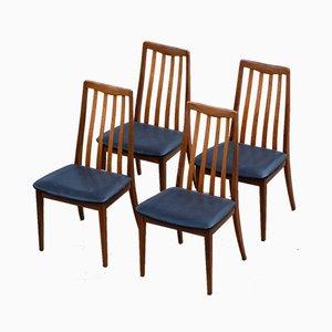 Skandinavische Schwarze Perforierte Stühle von G-Plan, 4er Set
