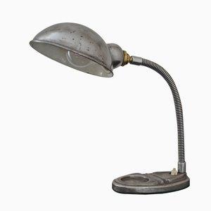 Lámpara de escritorio industrial cuello de cisne vintage, años 20
