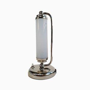 Art Deco Opal Glass Table Lamp, 1930s