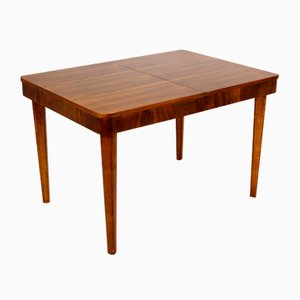 Extendable Walnut Dining Table by Jindrich Halabala for UP Zavody, 1950s