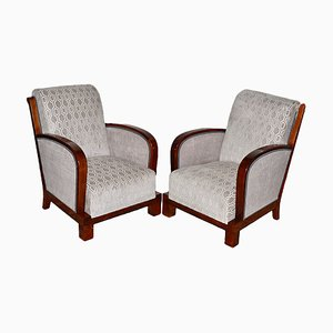 Art Deco Armchairs by Jindrich Halabala, Set of 2