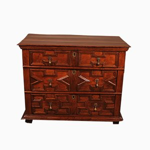 Jacobean Oak Chest of Drawers, 17th Century