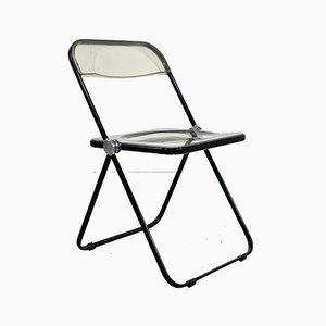 Black Frame Plia Folding Chair by Giancarlo Piretti for Castelli / Anonima Castelli, 1960s