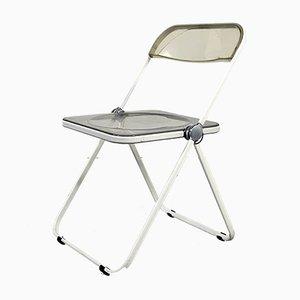 Plia Folding Chair with White Frame by Giancarlo Piretti for Castelli / Anonima Castelli, 1960s