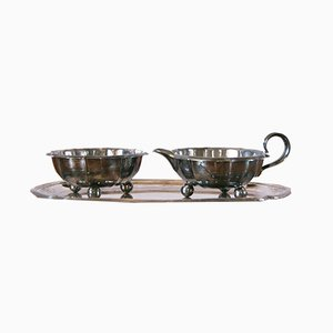 Milk and Sugar Set by Nils Johan for Prima N S, 1950, Set of 3