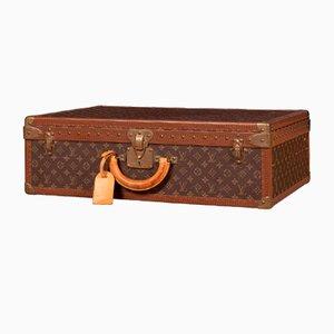 Monogrammierter Koffer aus Holz von Louis Vuitton, 1970er