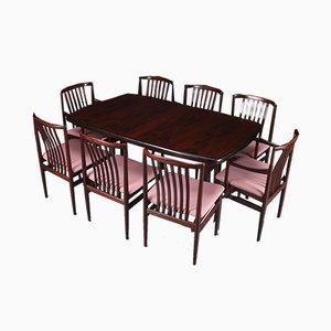 Danish Extending Dining Table & 8 Chairs Set