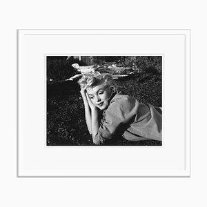 Imprimé Marilyn Monroe en Résine de Gélatine Argent Encadrée en Blanc Encastré Blanc par Baron