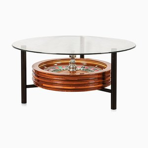 20th Century Novelty Coffee Table with Roulette Wheel