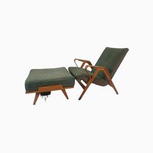 Sessel und Fußhocker von Francis Jirák für Tatra Furniture, 1960er, 2er Set