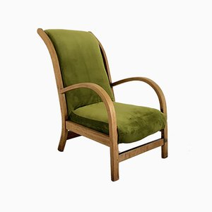 Englischer Art Deco Bugholz Armlehnstuhl von Suparest