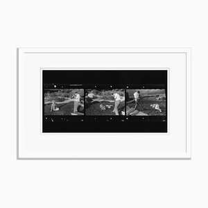 Imprimé Gélatine Marilyn and Baron en Résine Argenté Encadré en Blanc par Baron pour Galerie Prints