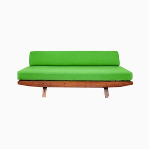 Sofa Bed in Plywood, Painted Iron and Brass by Campo E Graffi, Italy, 1970s