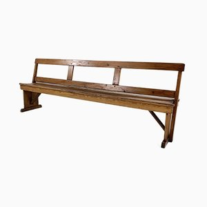 English Cathedral School Reversible Pine Pew Bench