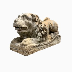 Leone in terracotta, XVIII secolo