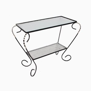 Vintage Metal Side Table or Plant Table