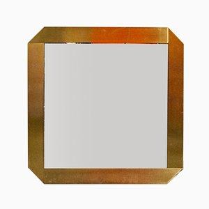 Specchio placcato in ottone di Gaetano Sciolari per Valenti, Italia, anni '70