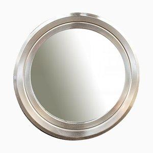 Specchio con cornice in acciaio, Italia, anni '60
