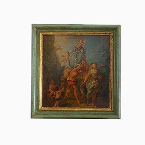 Allegorische Szene, Öl auf Holz, Französische Malerei